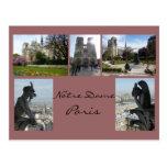 Notre Dame Collage Postcard
