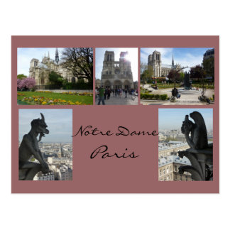Notre Dame Collage Postcard