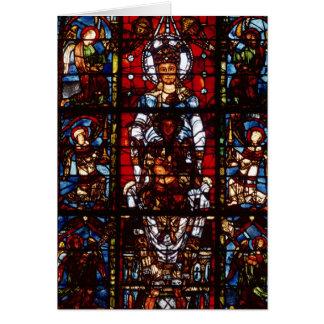 Notre-Dame de la Belle Verriere Tarjeta De Felicitación