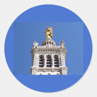 Notre Dame de la Garde Classic Round Sticker