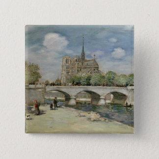 Notre Dame de Paris, c.1900 Pinback Button