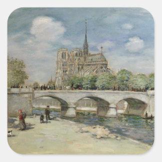 Notre Dame de Paris, c.1900 Square Sticker