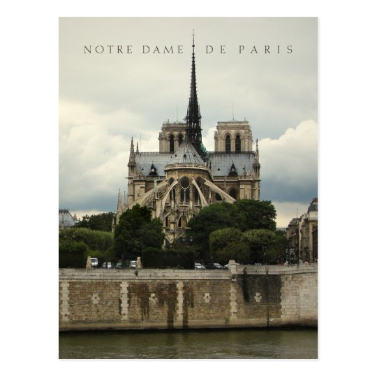 Notre Dame de Paris Cathedral postcard