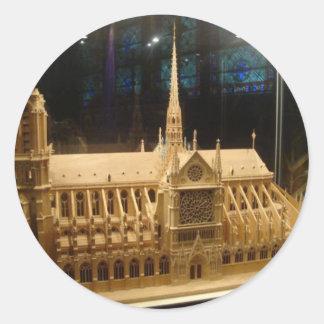 Notre Dame de Paris Classic Round Sticker