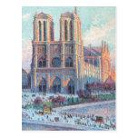 Notre Dame de Paris del viaje del vintage Postal