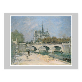 Notre Dame de Paris del vintage Postal