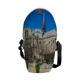 Notre Dame de Paris - día soleado Bolsas De Mensajería