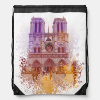 Notre Dame de Paris France Drawstring Backpack