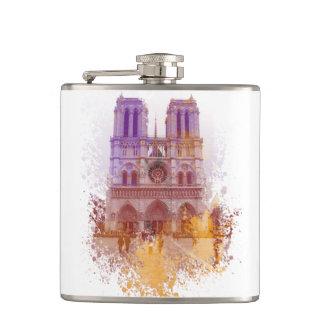 Notre Dame de Paris France Hip Flask