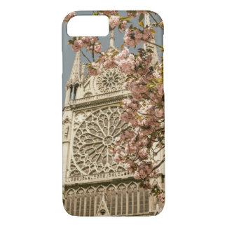 Notre Dame de Paris in Pink Spring Flowers iPhone 8/7 Case