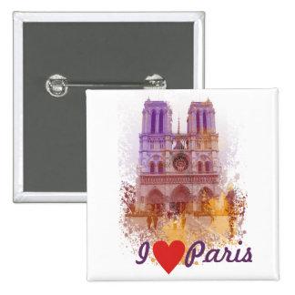 Notre Dame de Paris Pin Cuadrada 5 Cm