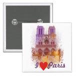 Notre Dame de Paris Pin Cuadrado