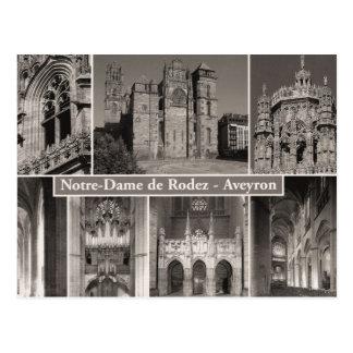 Notre Dame de Rodez, Aveyron France, Postcard