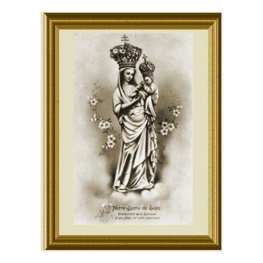 Notre Dame de Sion Protectrice de Lorena Tarjetas Postales