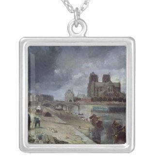 Notre-Dame del Quai de la Tournelle, 1852 Collar Plateado