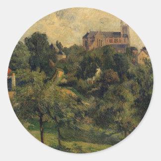 Notre Dame des Agnes by Paul Gauguin Classic Round Sticker