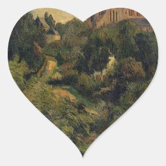 Notre Dame des Agnes by Paul Gauguin Heart Sticker