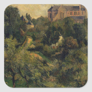 Notre Dame des Agnes by Paul Gauguin Square Sticker