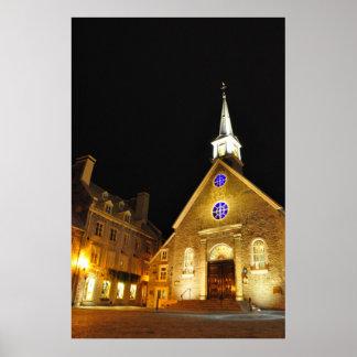 Notre Dame des Victoires Church Quebec Poster
