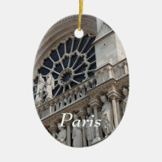 Notre Dame detail Christmas Tree Ornament