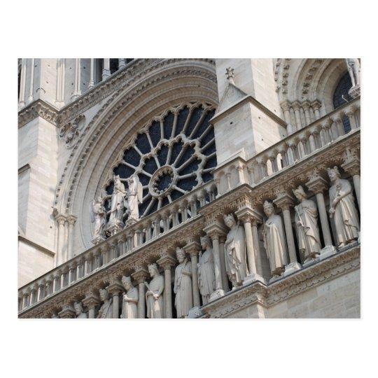 Notre Dame detail Postcard
