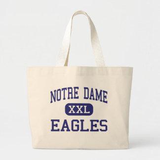 Notre Dame - Eagles - altos - Trenton New Jersey Bolsa Tela Grande