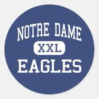 Notre Dame - Eagles - High - Trenton New Jersey Classic Round Sticker
