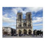 Notre Dame en París Postal