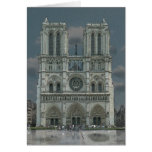 Notre Dame Facade greeting card