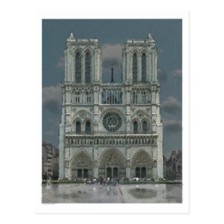 Notre Dame Facade post card