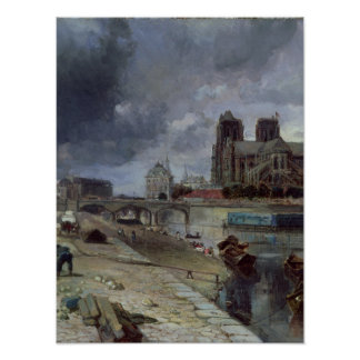 Notre-Dame from the Quai de la Tournelle, 1852 Poster