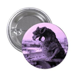 Notre Dame Gargoyle Gothic button pin