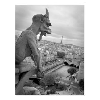 Notre Dame Gargoyle Postcard Postcard
