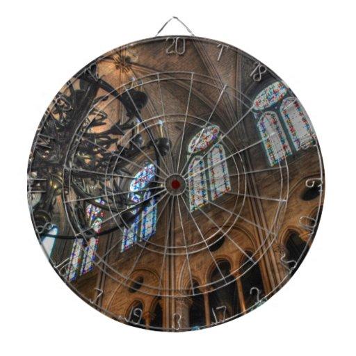 Notre Dame interior Dartboard With Darts