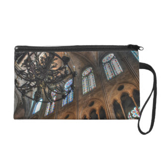 Notre Dame interior Wristlet Clutch