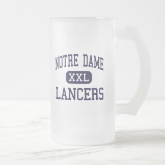 Notre Dame - Lancers - Catholic - Fairfield Frosted Glass Beer Mug