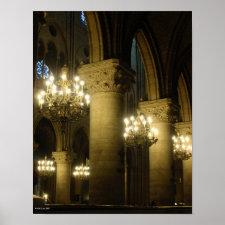 Notre Dame Light The Way Print print