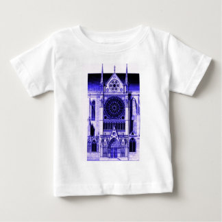 notre dame lt blue baby T-Shirt