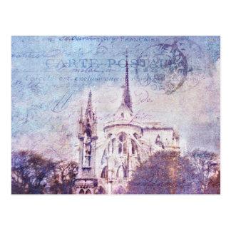 Notre Dame matasellada Postal