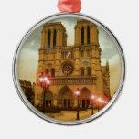 Notre Dame Metal Ornament