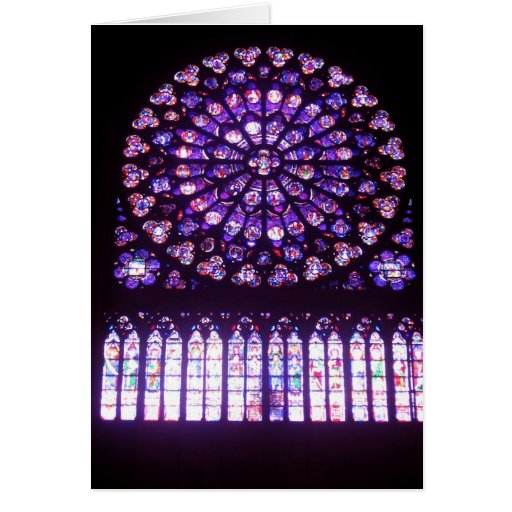 Notre-Dame, North Rose Greeting Card