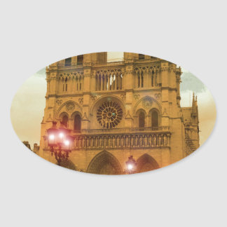 Notre Dame Oval Sticker