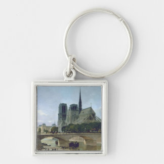 Notre Dame, Paris, 1884 Keychain