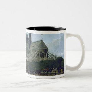 Notre Dame, Paris, 1884 Two-Tone Coffee Mug