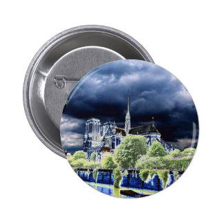 Notre Dame, París 4 Pin Redondo 5 Cm