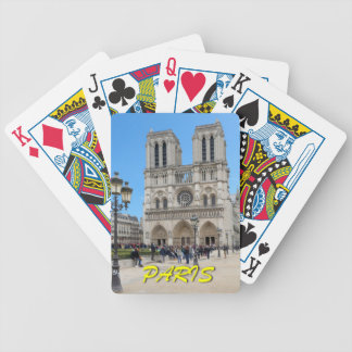 Notre Dame PARIS Bicycle Playing Cards