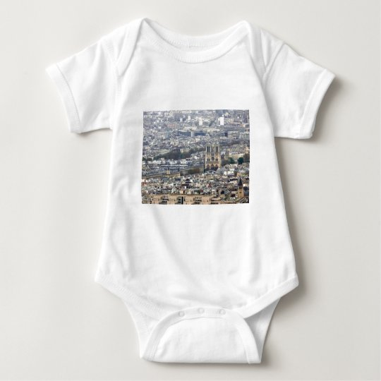 Notre Dame Paris France Baby Bodysuit
