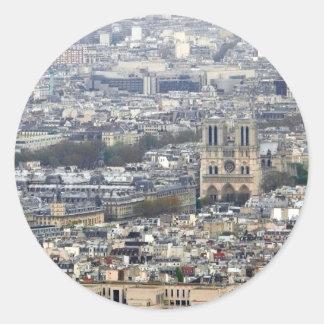 Notre Dame Paris France Classic Round Sticker