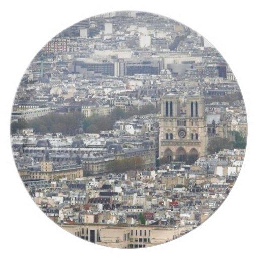 Notre Dame Paris France Dinner Plate