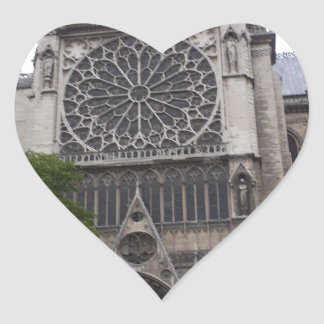 Notre Dame, Paris, France Heart Sticker